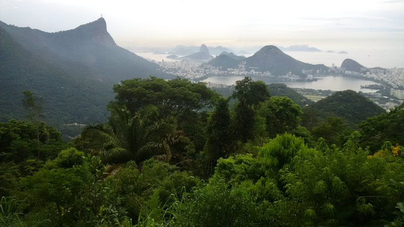 Tijuca National Park View from Chinese Pavilion